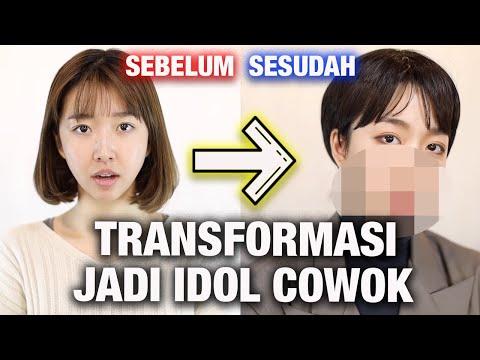 MUA KOREA TRANSFORMASI AKU JADI KPOP IDOL COWOK! (CEWEK JADI COWOK?) 😱😱😱😱
