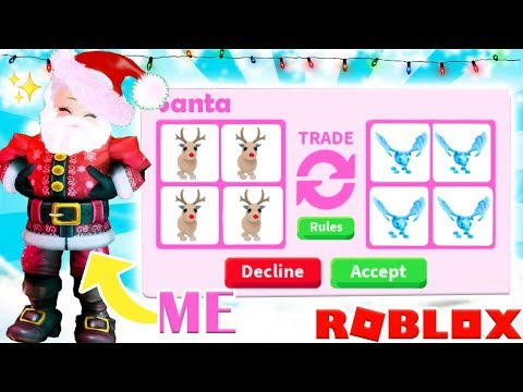 I Went UNDERCOVER As SANTA To Give People FREE PETS IN Adopt Me... Roblox Adopt Me Trading