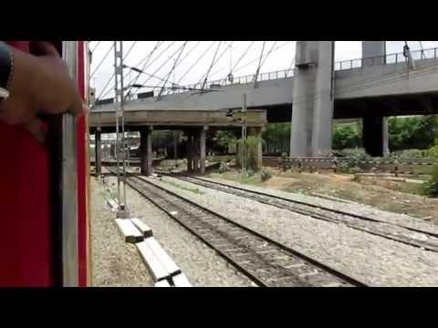 Chennai Bangalore Double Decker Express enters Krishnarajapuram