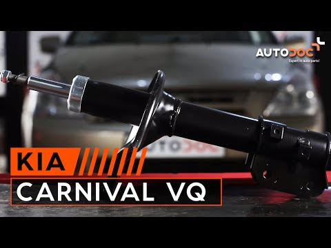 How to replace front shock absorbers KIA CARNIVAL VQ TUTORIAL | AUTODOC
