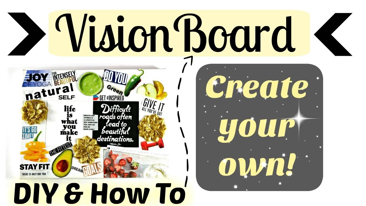 Diy Vision Board Example For Success Youtube