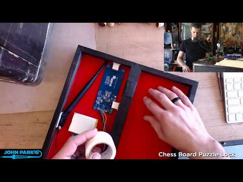John Park's Workshop LIVE: Chess board puzzle lock @adafruit @johnedgarpark #adafruit
