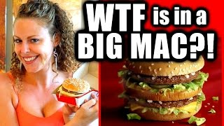 WTF is in a Big Mac?! Fast Food Ingredients, Food Chemicals, Health, Nutrition, Safety