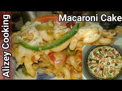 Macaroni Cake Without Oven Recipe | How To Make Macaroni Cake | Pasta Cake Recipe |by Alizey Cooking