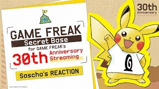 GAME FREAK Secret Base for GAME FREAK's 30th Anniversary Streaming(Sascha's REACTION) Video
