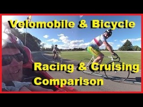 Comparing my DF-xl Velomobile with other Cyclists during Cruising speeds and Racing speeds