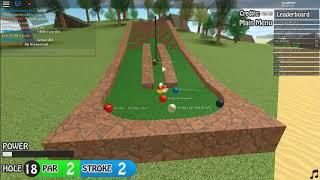 Golf (Encore une fois) Roblox mini-golf