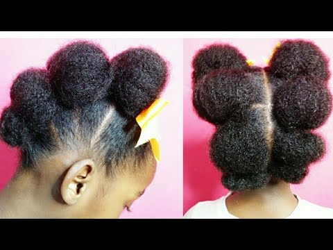 poodle puffs hairstyle for kids/Natural hairstyles/It's Angy style