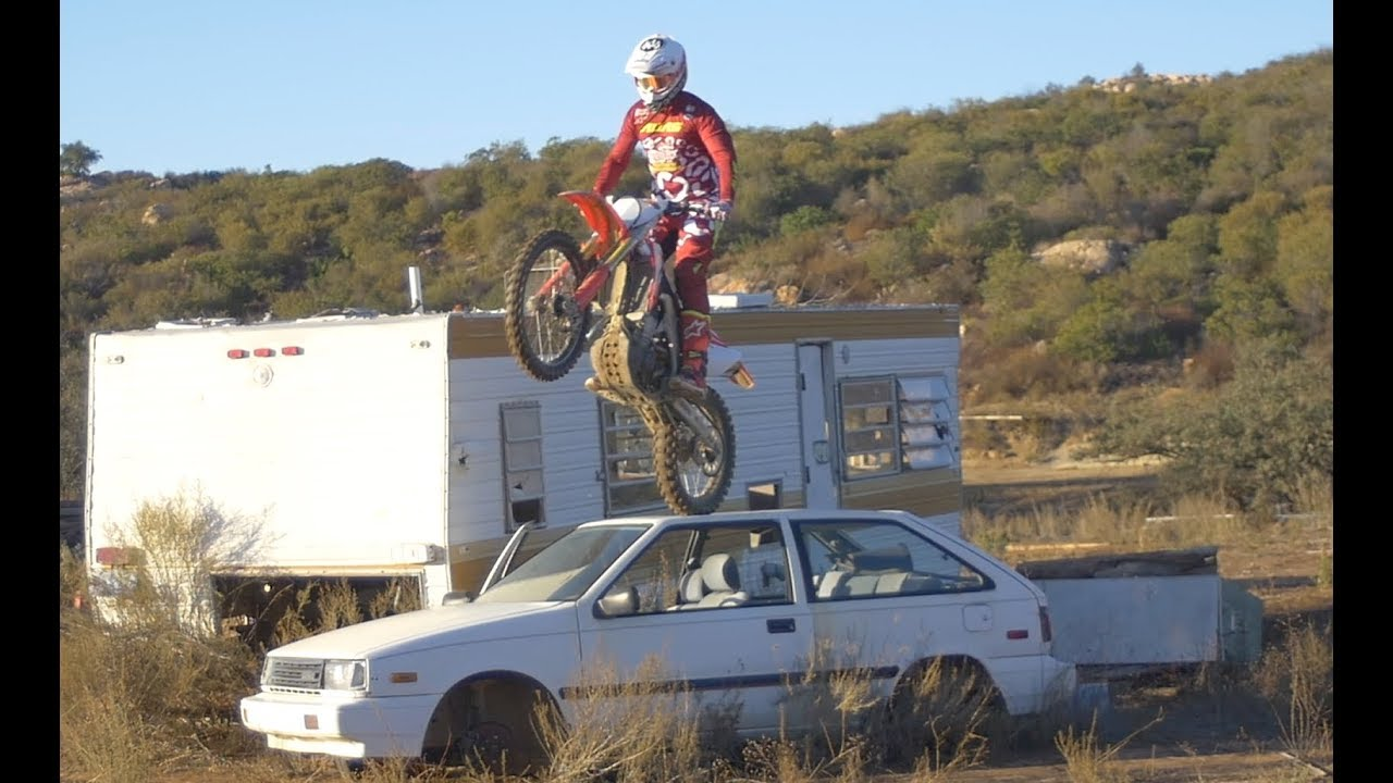 buttery-jumps-dirt-bike-onto-car