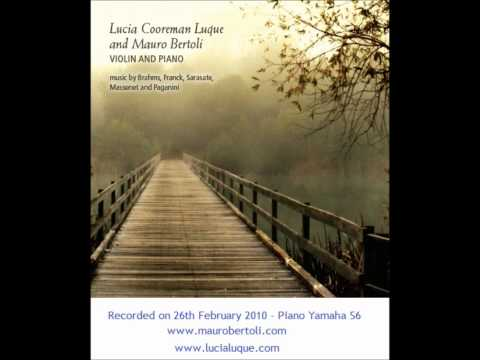 "J. Massenet - Meditation from ""Thais"", violin Lucia Luque - piano Mauro Bertoli"