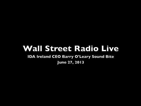 IDA Ireland CEO Barry O'Leary on Wall Street Radio Live