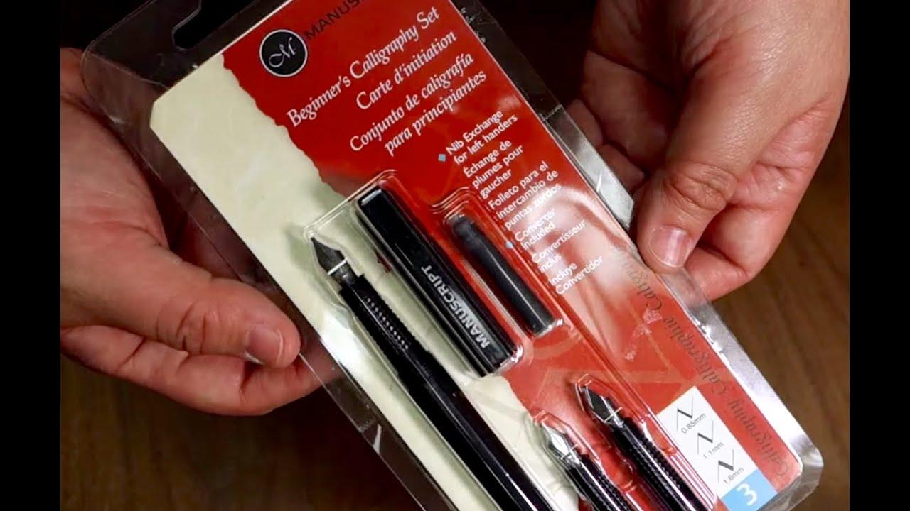 Manuscript Beginner Calligraphy Set Open Box  YouTube