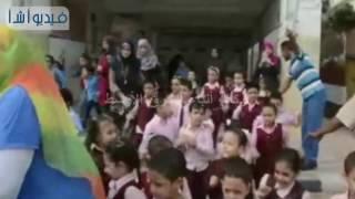 شاهد بالفيديو : تجربة حية لإخلاء مدرسة وقت الطوارئ والأزمات xGينفذها تعليم المنيا