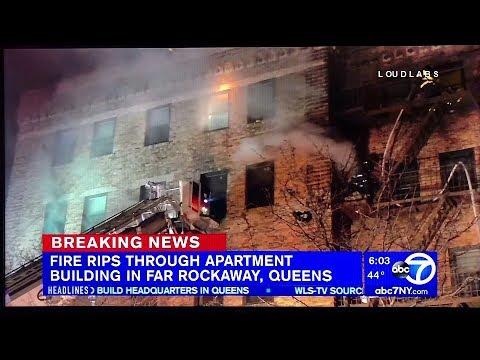 LoudlabsTV | 4 Alarm Fire | NY1, ABC7