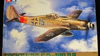 Focke Wulf Fw 190 D9 Tamiya 1/48 Box Peek