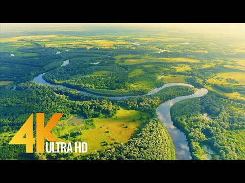 bird's-eye-view-of-ukrainian-rivers---desna-river-from-above---ambient-drone-film-4k-+-music