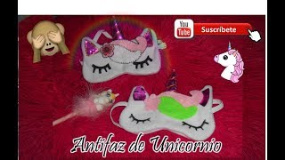 Antifaz para dormir de Unicornio/DIY