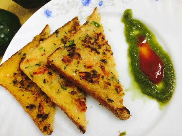 Instant Rava Toast Recipe/Sooji Toast / Quick And Easy Toast