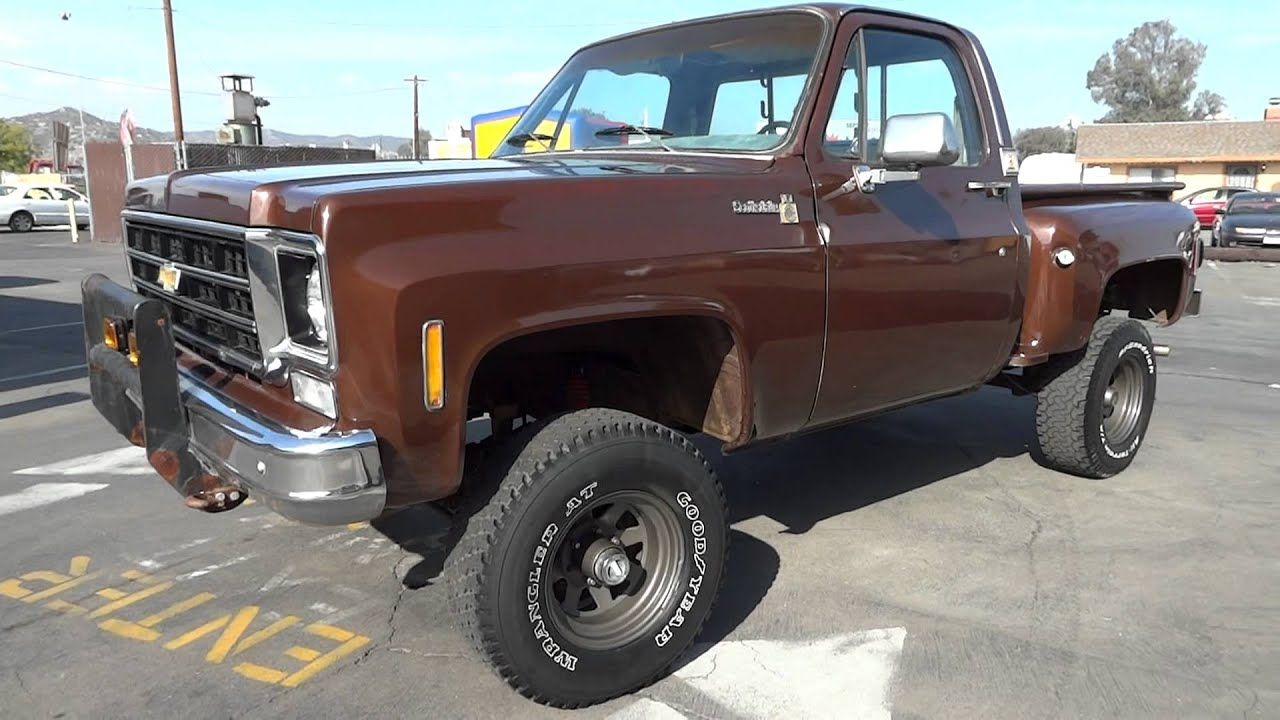 78 chevy k10 k 10 stepside scotsdale 4x4 youtube sciox Choice Image