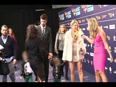 Shakira y su familia, reyes de Los 40 Music Awards