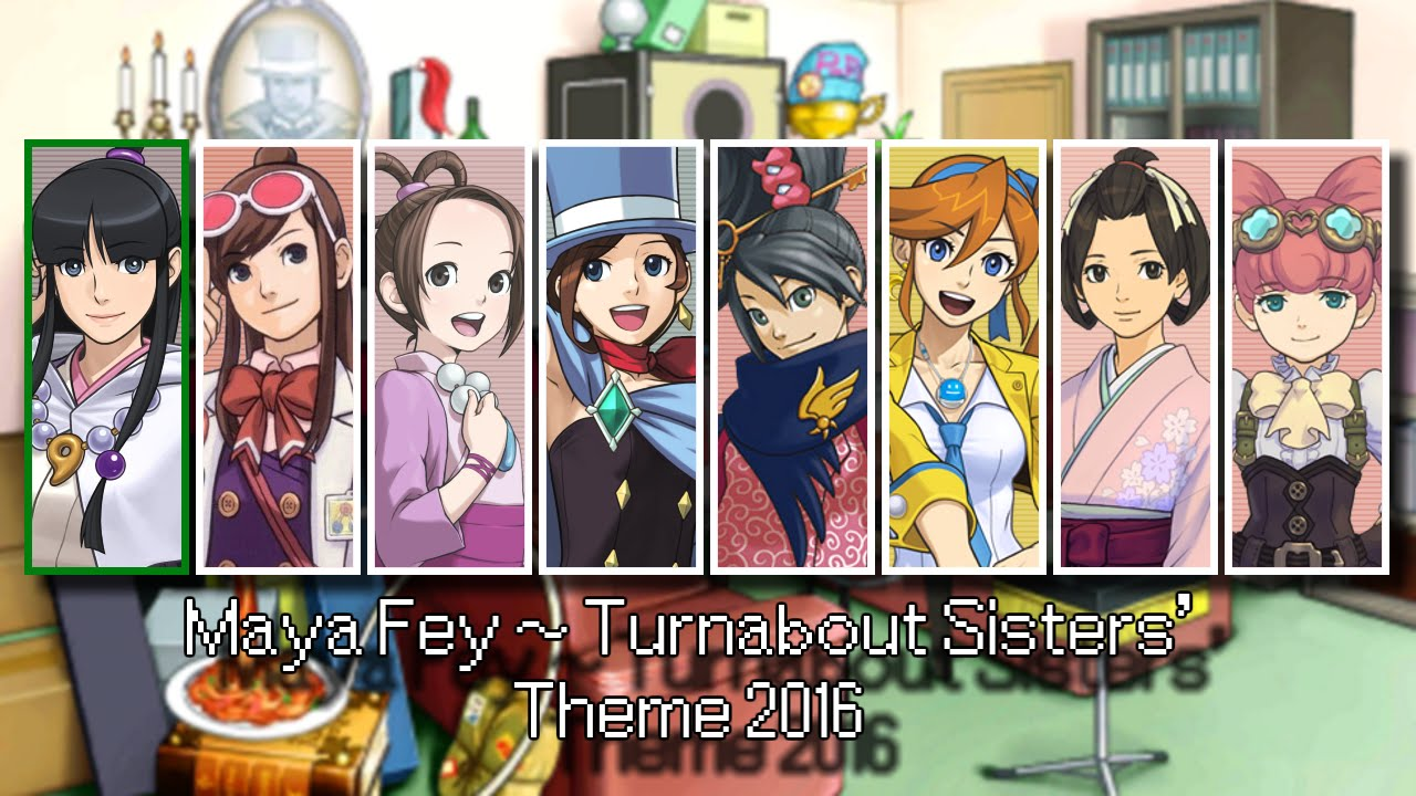Ace Attorney All Female Assistant Themes 2016 Youtube