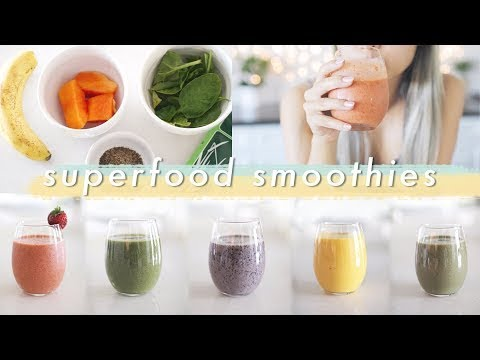 5 Easy Superfood Smoothies | Healthy Breakfast Ideas