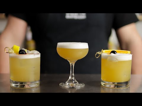 The BEST WHISKEY SOUR Recipes! (Top 3)