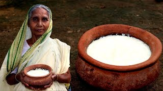 Traditional Misti Doi Recipe by Grandmother | Easy Sweet Curd/Dahi Recipe | Village Food