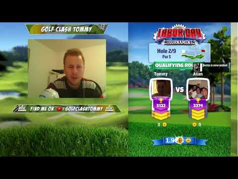 Golf Clash stream, Labor Day Tournament - Qualifying round, Masters TEE!