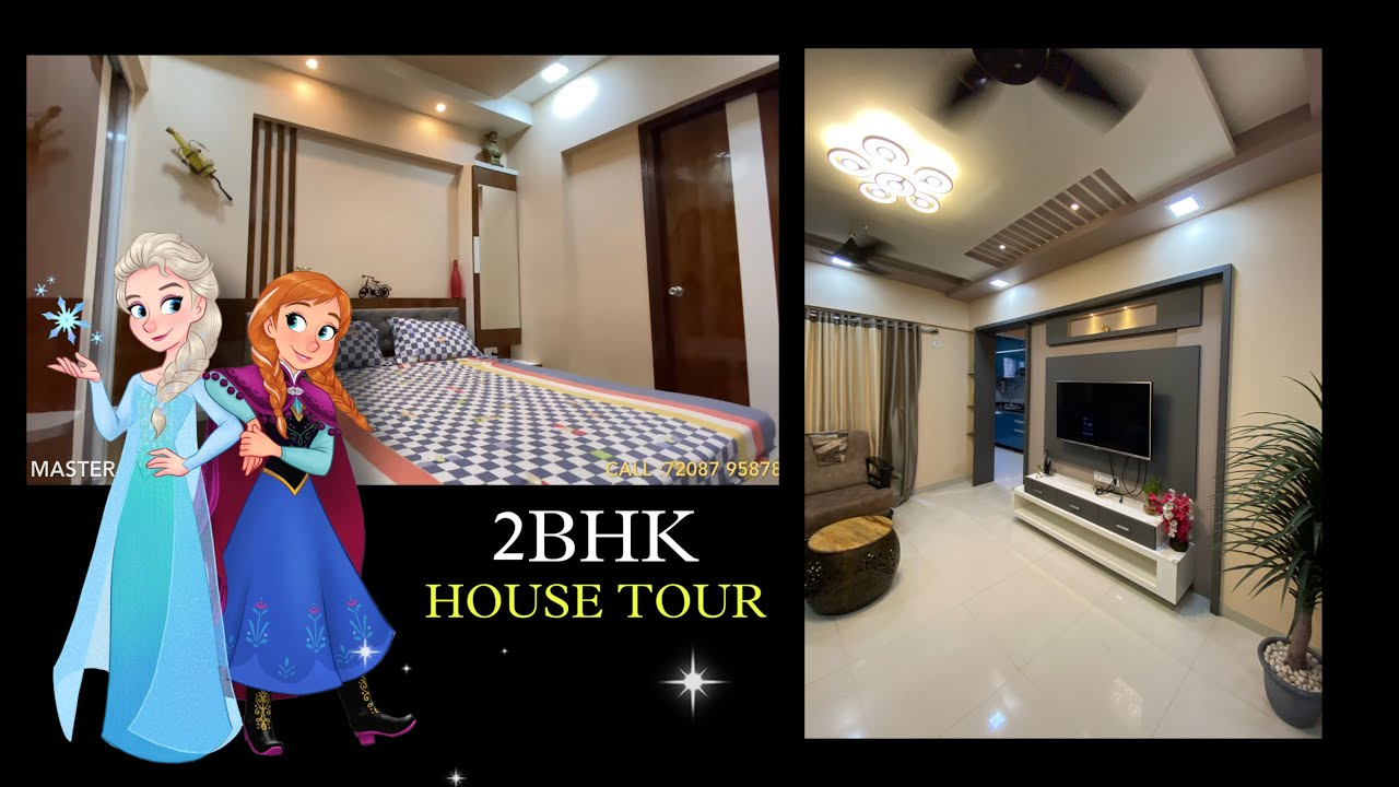Mr.Mrs.Kor 2bhk HOME TOUR || project designed by Roxtar Interio Kalyan West || modern design ||