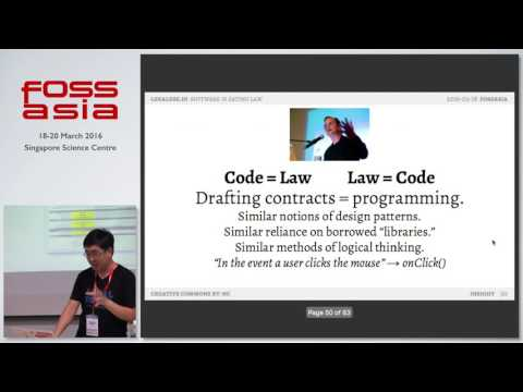 Legalese.io: smart contracts, dumb lawyers, and you - Meng Weng Wong - FOSSASIA Summit 2016