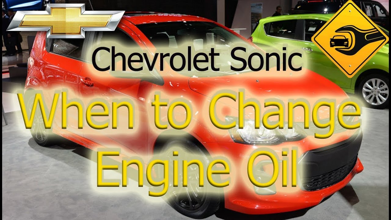 Chevrolet Sonic Owners Manual: Engine Oil Change