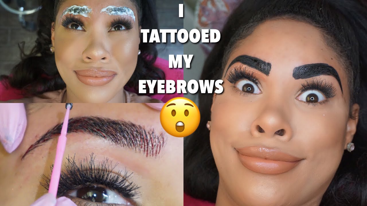 I Tattooed My Eyebrows Youtube They are a great fit for those of you who. i tattooed my eyebrows