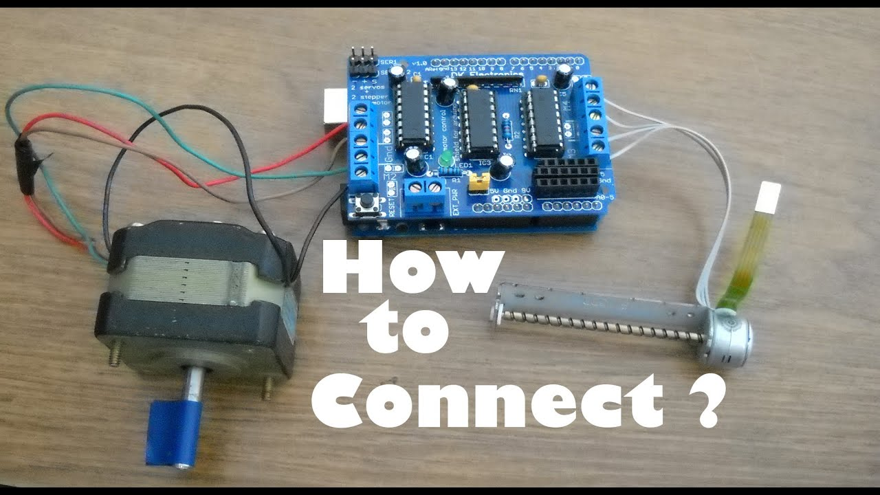 maxresdefault how to connect stepper motor to an arduino youtube Single Phase Motor Wiring Diagrams at cos-gaming.co