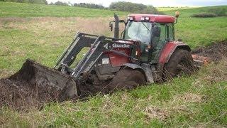 traktory w błocie - wtopy