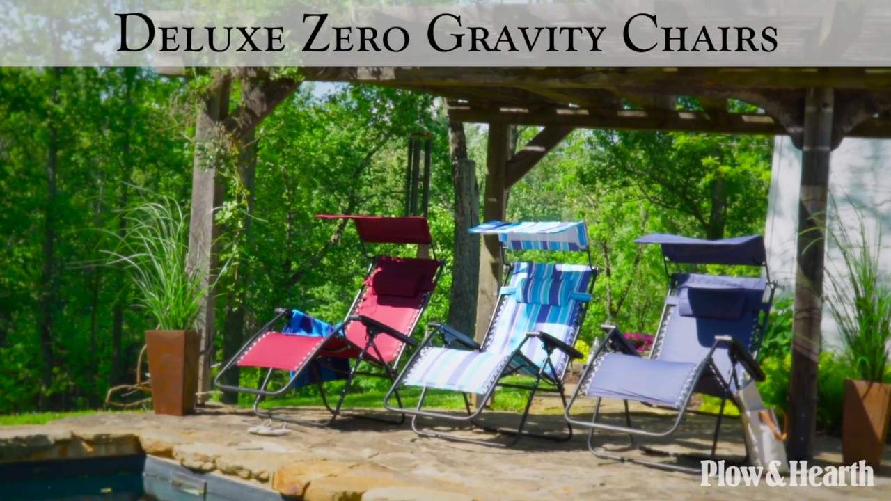 Deluxe Zero Gravity Chair With Awning Table And Drink