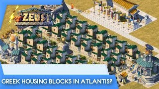 GREEK HOUSING BLOCKS IN ATLANTIS? | Zeus: Master of Olympus (Poseidon Expansion)