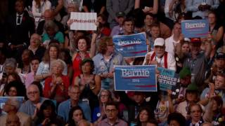 Senator Al Franken and Sarah Silverman at DNC 2016