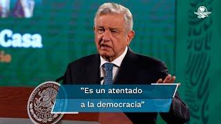 Después de que el INE ratificara la cancelación de las candidaturas de los candidatos a las gubernaturas de Michoacán y Guerrero, el presidente López Obrador, insistió en que se debería dejar que el pueblo decida