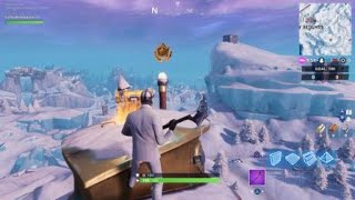 Fortnite - Season 7, week 1: secret battlestar on top of a submarine near Polar Peak.
