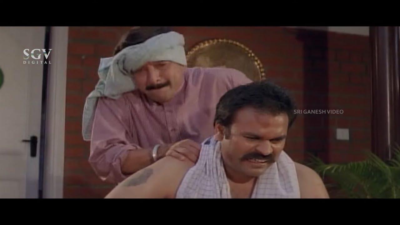 Dr.Vishnuvardhan and Devaraj Massage To Owner | Comedy Scene | Habba Kannada Movie | Ambarish