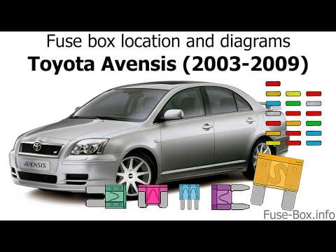 Fuse box location and diagrams: Toyota Avensis (2003-2009)