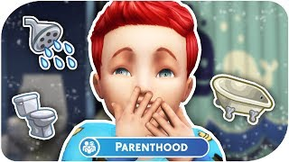 THE SIMS 4 // PARENTHOOD | PART 9 — 👨‍👩‍👧 Bubble Baths & Potty Training!