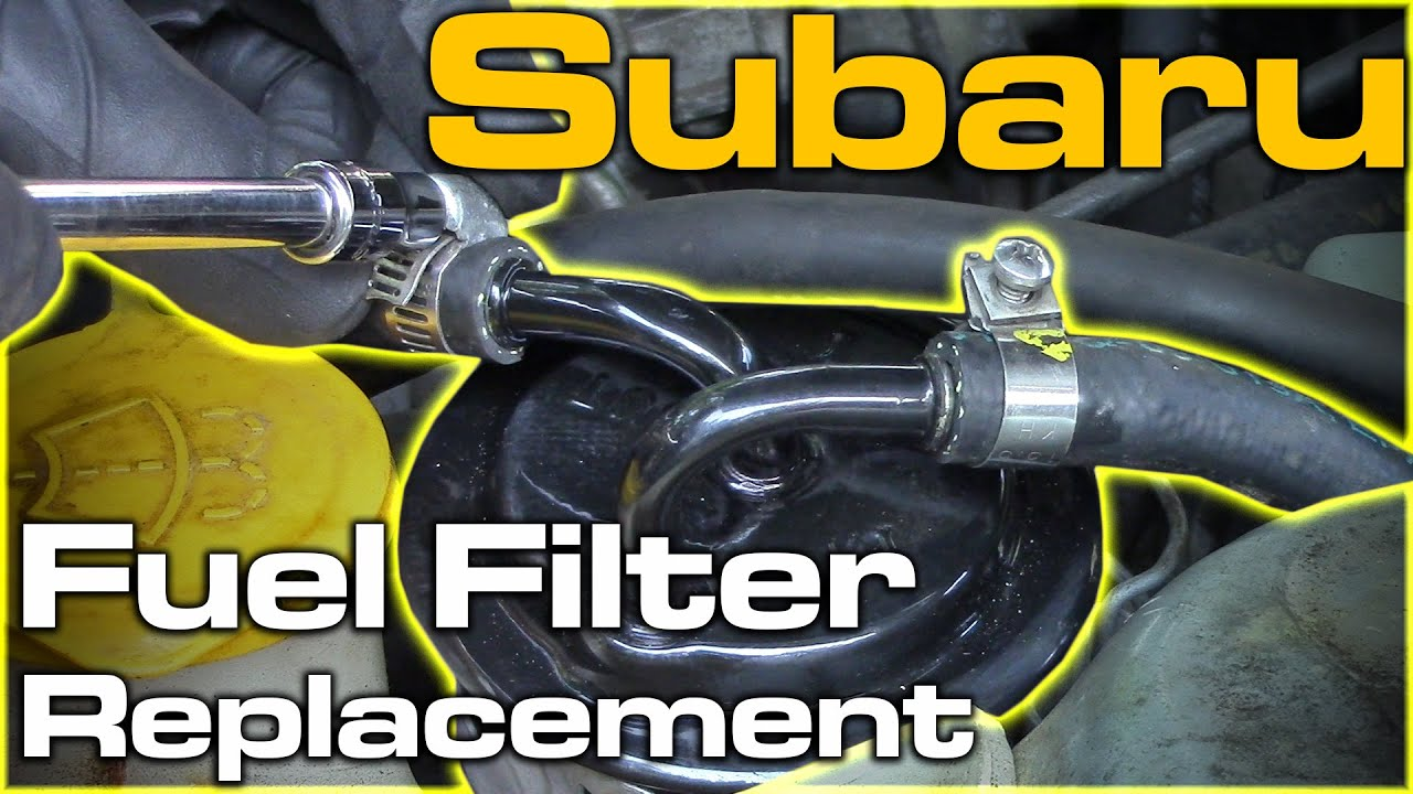 subaru fuel filter replacement youtube. Black Bedroom Furniture Sets. Home Design Ideas