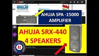 AHUJA SRX-440 SPEAKERS with AHUJA SPA -15000 AMPLIFIER