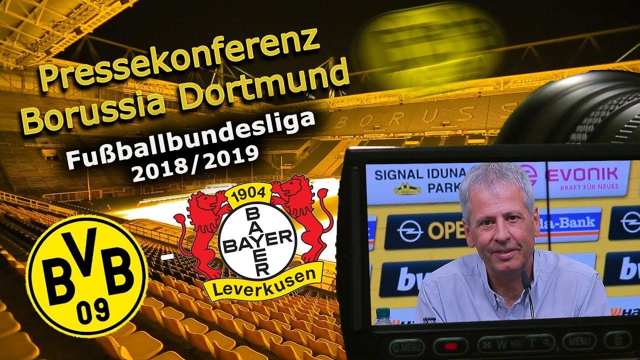 Borussia Dortmund - Bayer 04 Leverkusen: Pk mit Lucien Favre und Michael Zorc