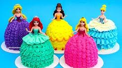 PRINCESS Dress Cupcakes / Magic Clip DOLLS Mini Cakes - Buttercream Decorating