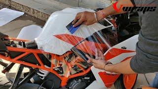 KTM RC 200 lamination/modification | PPF Installation | Vwraps Sikar