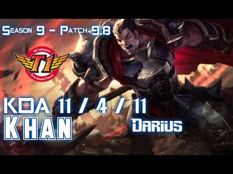 SKT T1 Khan DARIUS vs VLADIMIR Top - Patch 9.8 KR Ranked