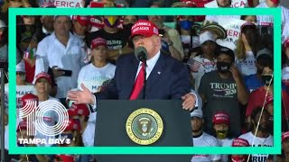 President Donald Trump holds late-night rally in Opa-Locka